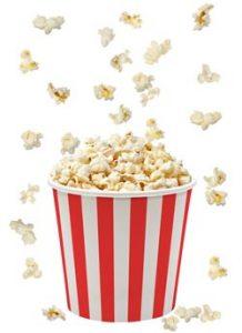 Popcorn White Background